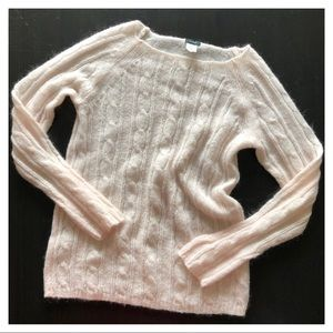 J. Crew Blush Cable Knit Sweater